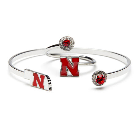 Michigan State Spartan Bracelet Bangle with Crystal