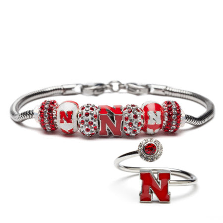 Nebraska Cornhusker Bracelet Bangle Jewelry
