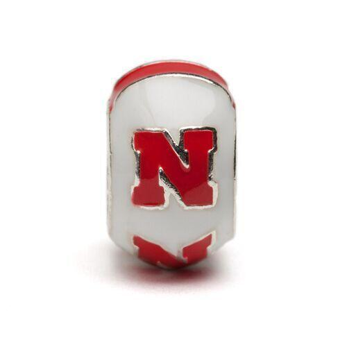 Nebraska Cornhuskers Bead Charm Set of Three - Scarlet and Cream
