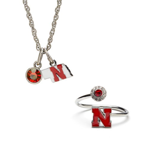 Gift Set-Love Nebraska Ring and Necklace