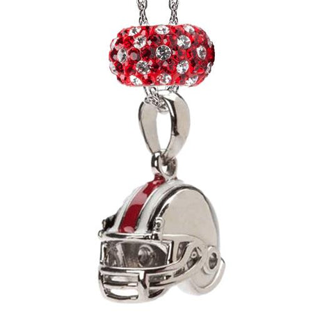 Red and Black Crystal Charm Pendant Necklace