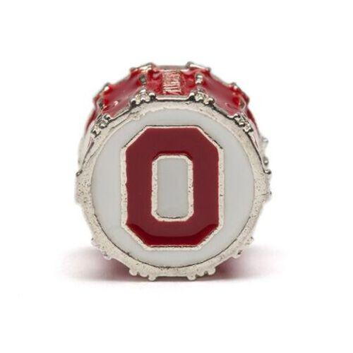 Ohio State Red OH Drum Bead Charm