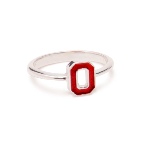 Ohio State Ring Block O - Fine Jewelry - Sterling Silver