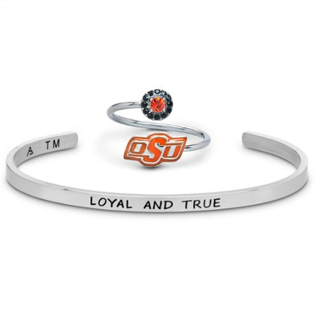 Gift Set-Oklahoma State Cowboys One for You and One for Me Rings