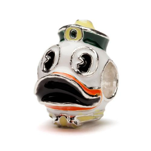 University of Oregon Duck Mascot Bead Charm