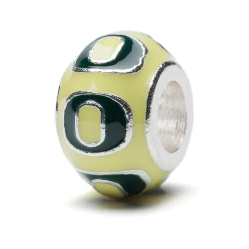 University of Oregon Charm - Yellow and Green Round