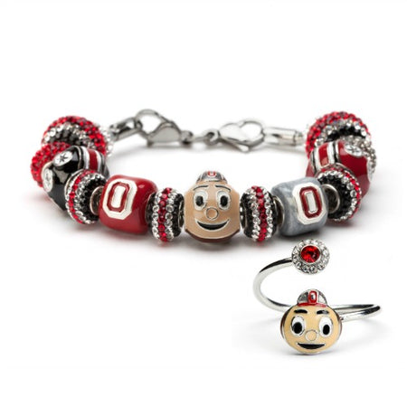 Ohio State Football Helmet Bead