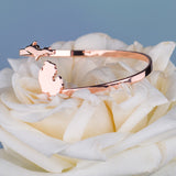 Copper Michigan Bangle Bracelet