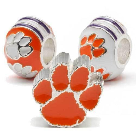 Auburn Aubie Tiger Jewelry Charm Beads Set of Two