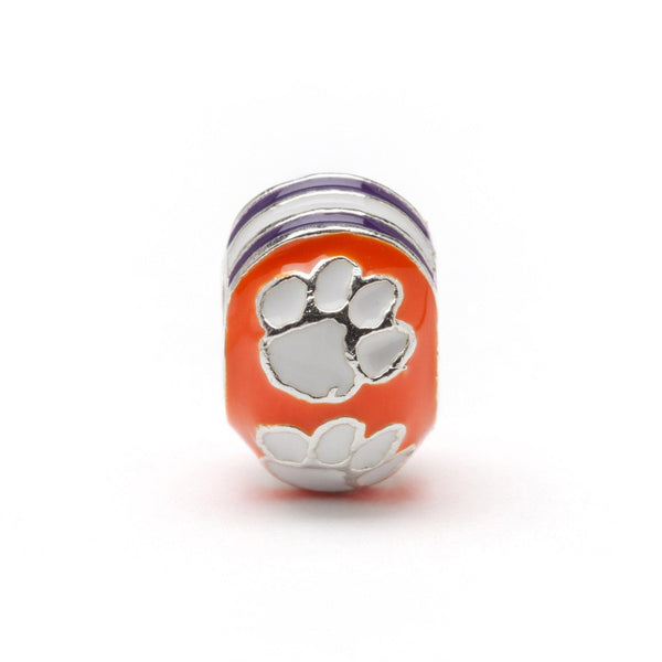 Clemson University Jewelry Bead Charm Set of Two