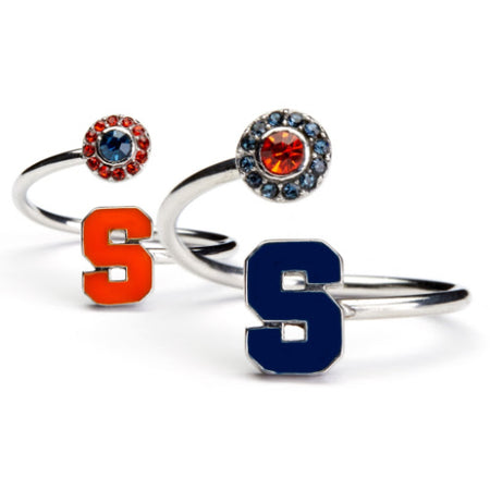 Syracuse Ring Navy S with Austrian Crystal