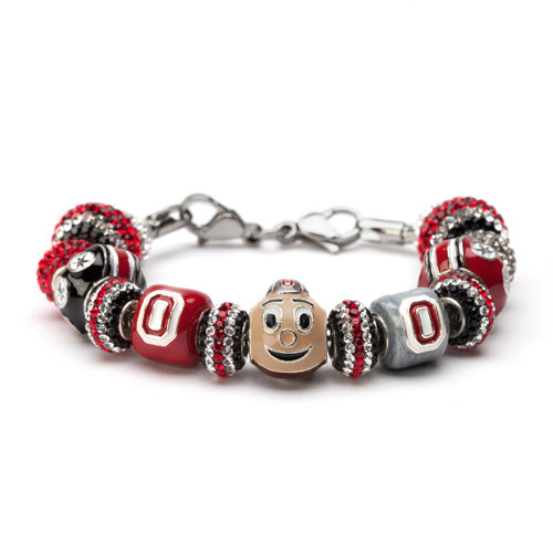 Gift Set- Ultimate Ohio State University Brutus Fan Charm Bracelet and Ring