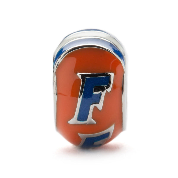 Go Gators Florida Gators Block Bead Charm - Orange