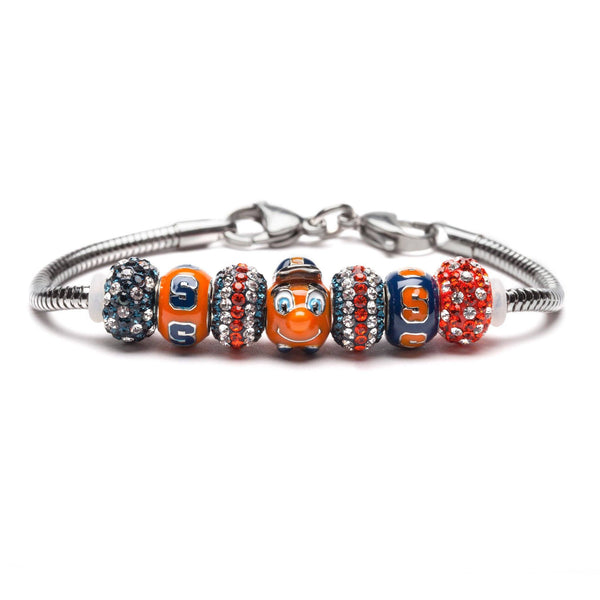 Syracuse University Orange Bead Charm Bracelet Jewelry