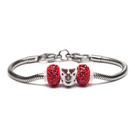 University of Wisconsin Badger Charm Bracelet