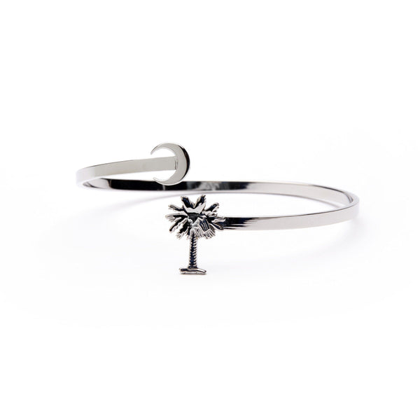 Palmetto Bracelet Bangle-Stainless Steel