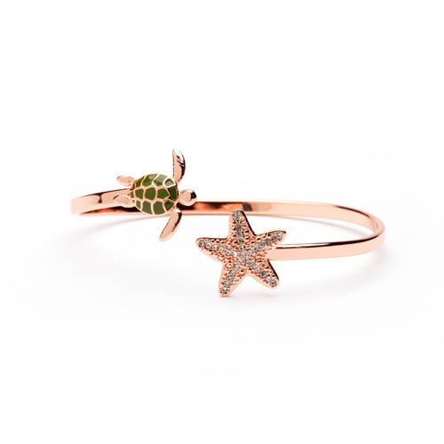 Love the Sea Turtle Bangle Copper