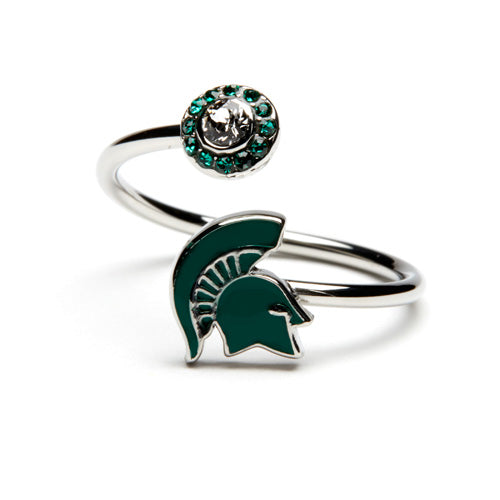 Gift Set-Love Michigan State Ring and 'Spartans Will.' Bangle