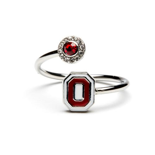 Red On White Ohio State Ring