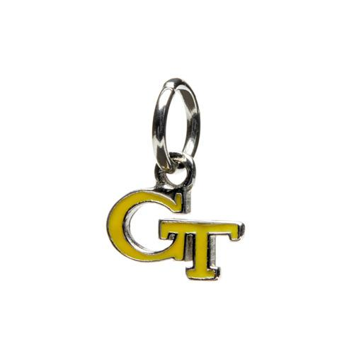 Georgia Tech Gold GT Dangle Charm