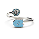 Gift Set- Ultimate UNC Tarheels Fan Charm Bracelet and Ring