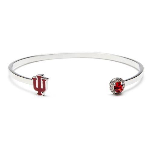 Indiana Hoosiers Crystal Bangle Bracelet