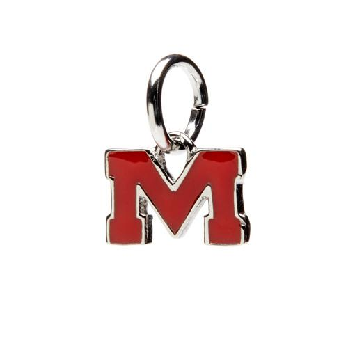 Ole Miss Red M Pendant Charm