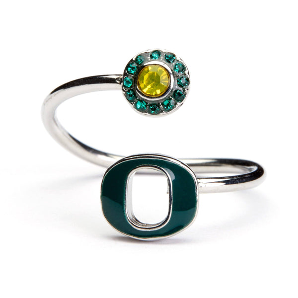 Oregon Ducks Ring - Green O