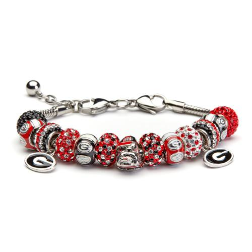 University of Georgia Bulldogs Charm Bracelet Jewelry