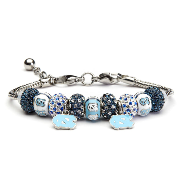 North Carolina Tarheels Charm Bracelet Jewelry