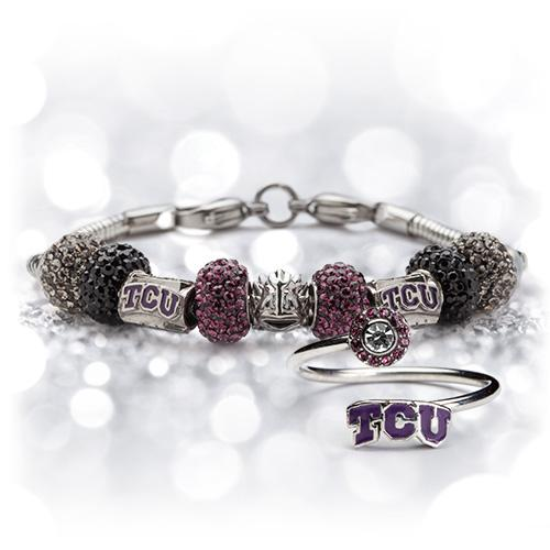 Gift Set- Ultimate TCU Fan Charm Bracelet and Ring