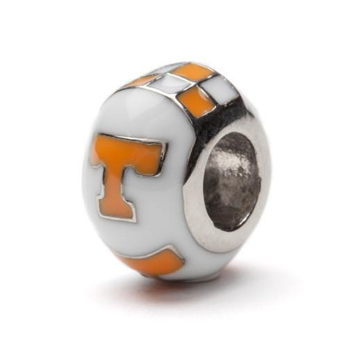 University of Tennessee Bead Charm - White