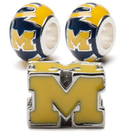 University of Michigan Charm Set -  Maize Block M & Round Charms