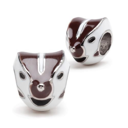 Wisconsin Badger Mascot Charm Set of Two