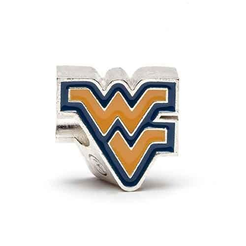 West Virginia Bead Charm Stainless Steel Stone Armory