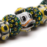 University of Oregon Bead Charm Bracelet
