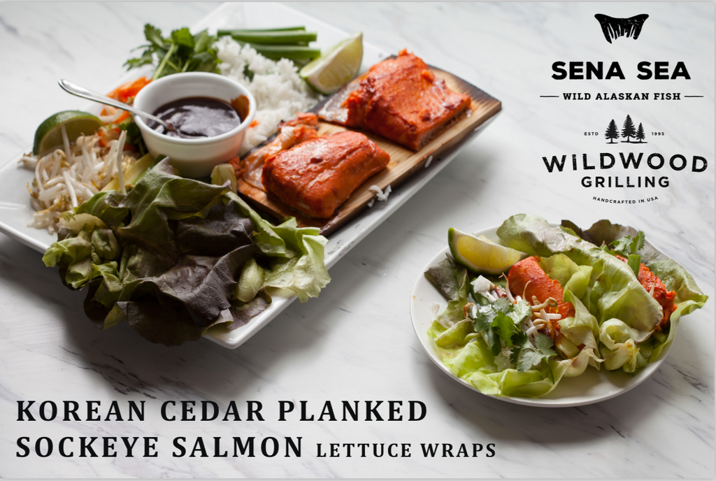 Copper River Salmon Lettuce Wraps