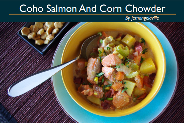 Coho Salmon and Corn Chowder
