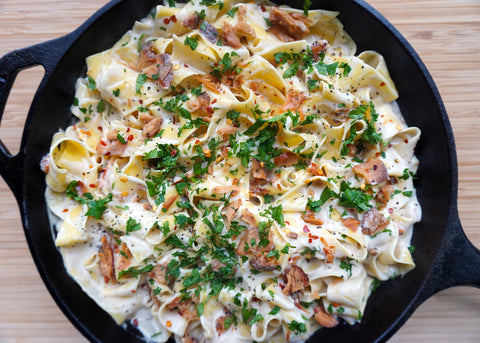 Creamy Smoked Salmon Pappardelle