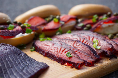 Copper River Sockeye Blueberry Cured Gravlax