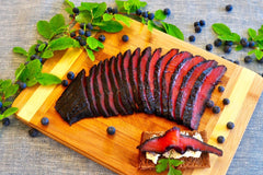 Copper River Coho Blueberry Gravlox