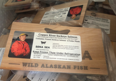 Copper River Sockeye Salmon on a Cedar Plank