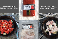 Seasonal Variety Chop (salmon & white fish)