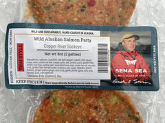 WILD ALASKAN SALMON PATTIES COPPER RIVER SOCKEYE LABEL