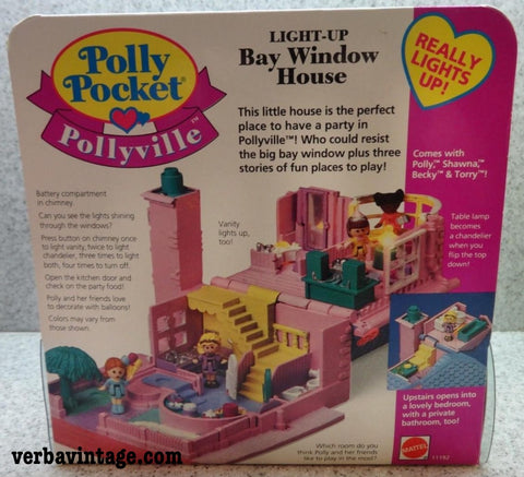 Polly Pocket 1993 MIP Bay Window House Back Package