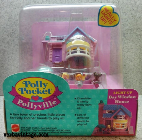 Polly Pocket 1993 MIP Bay Window House Front Package