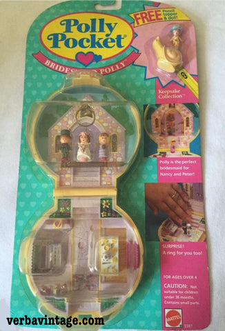 Polly Pocket 1989 MIP Bridesmaid Polly Front Package With Bonus