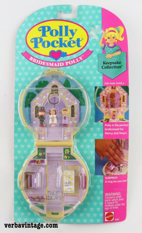 Polly Pocket 1989 MIP Bridesmaid Polly Front Package without Bonus