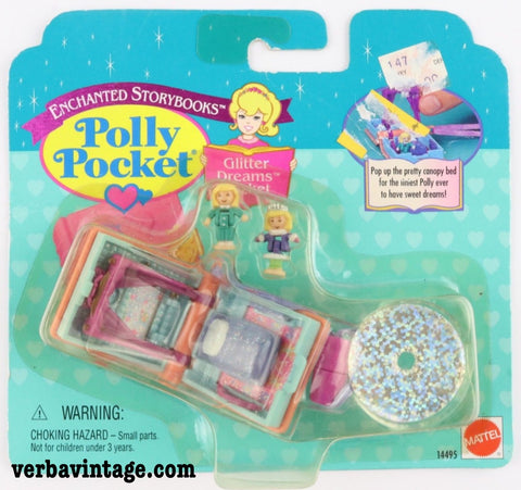 Polly Pocket 1995 MIP Glitter Dreams Locket Front Package