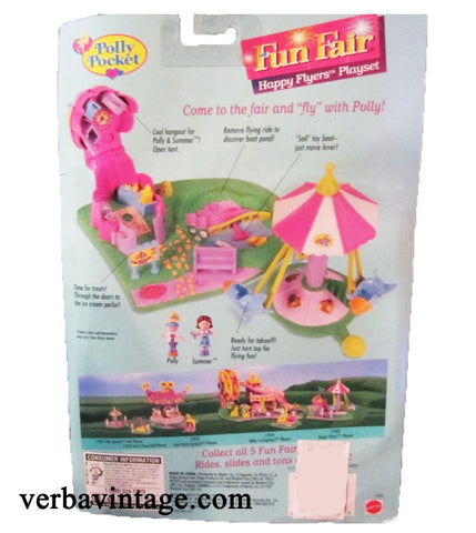 Polly Pocket 1996 MIP Happy Flyers Back Package